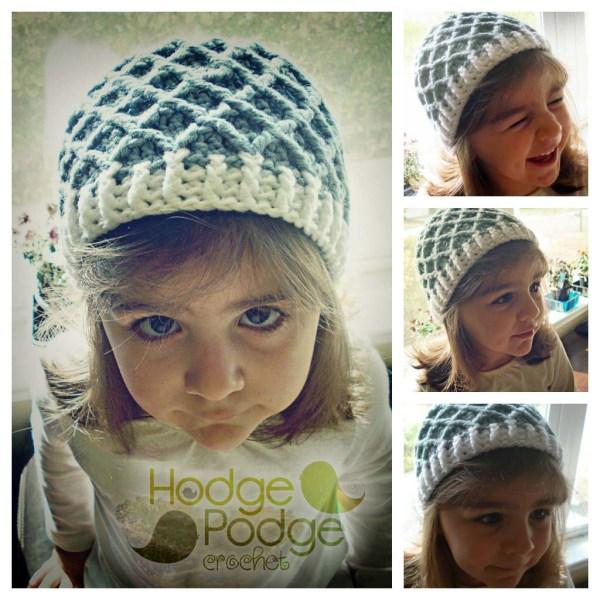 Crochet Diamond Pattern Hat Hodgepodge Crochet