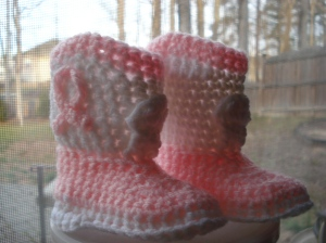 baby cowboy crochet booties pattern