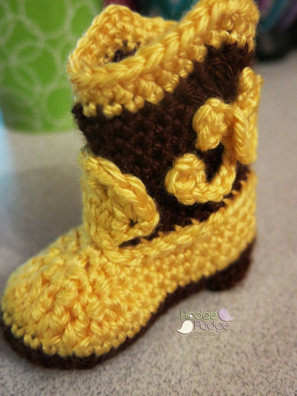 Cowboy Boots Revisited! HodgePodge Crochet
