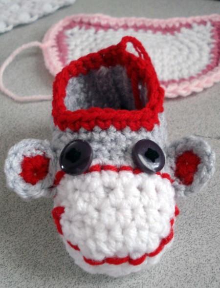 Cheeky Monkey Booties Hodgepodge Crochet