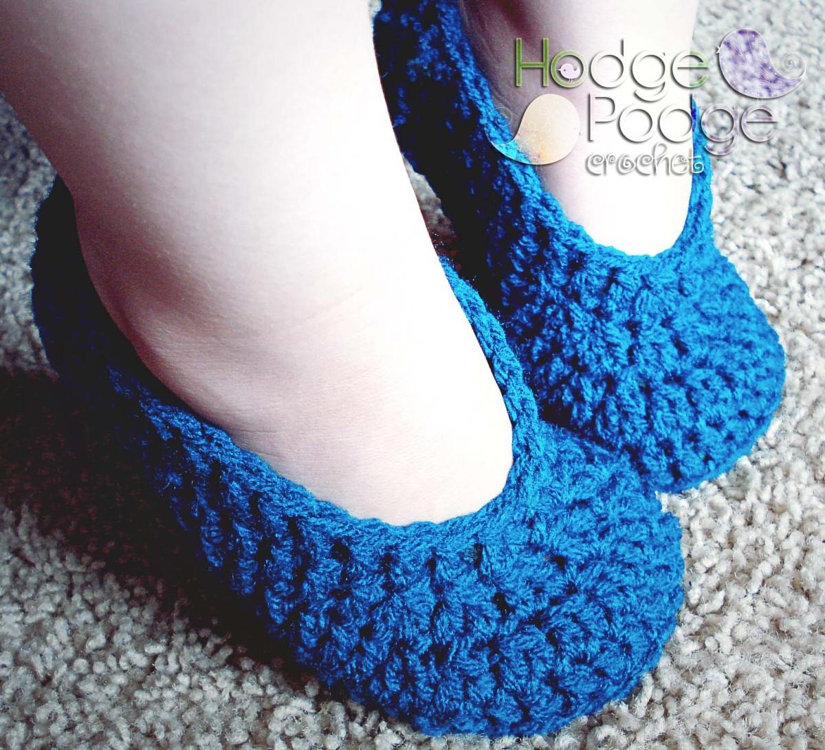 Simple Toddler Slippers Hodgepodge Crochet