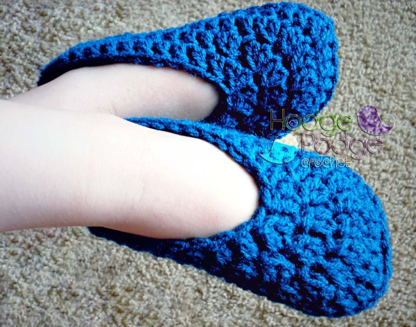 Simple Toddler Slippers HodgePodge Crochet