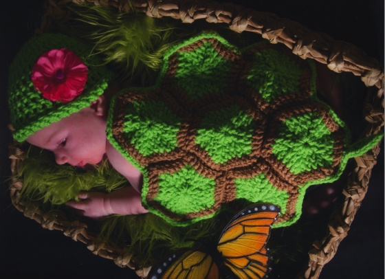 "http://hodgepodgecrochet.wordpress.com: Free Pattern--Infant Turtle Shell ""Blanket"""