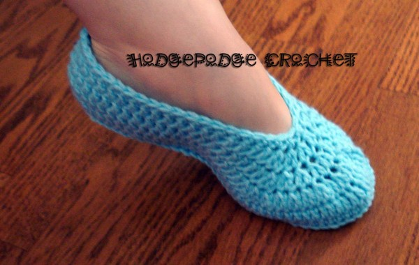 Ladies Ballet Slippers Hodgepodge Crochet