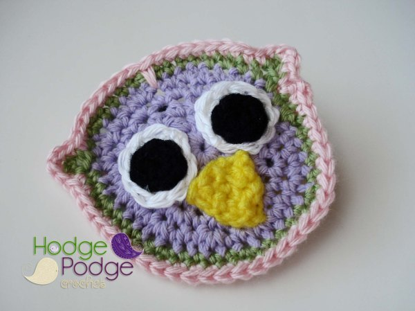 https://hodgepodgecrochet.wordpress.com: 'It's a Hoot' Owl Applique