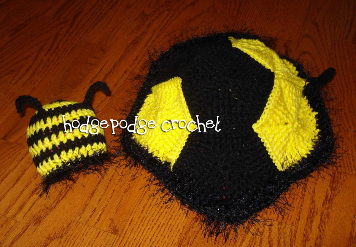 Buzzy Bee Photo Prop Hodgepodge Crochet