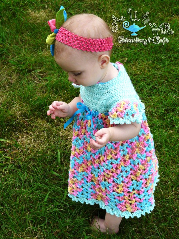 https://hodgepodgecrochet.wordpress.com Vintage Dress and Diaper Cover