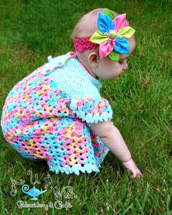 https://hodgepodgecrochet.wordpress.com Vintage Dress and Diaper Cover