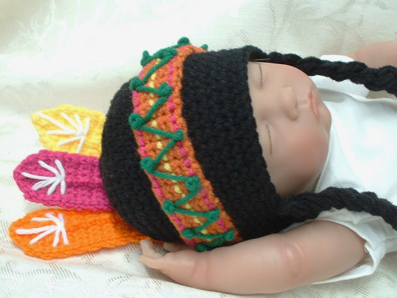 indian hat template - lil indian boy girl hat hodgepodge crochet