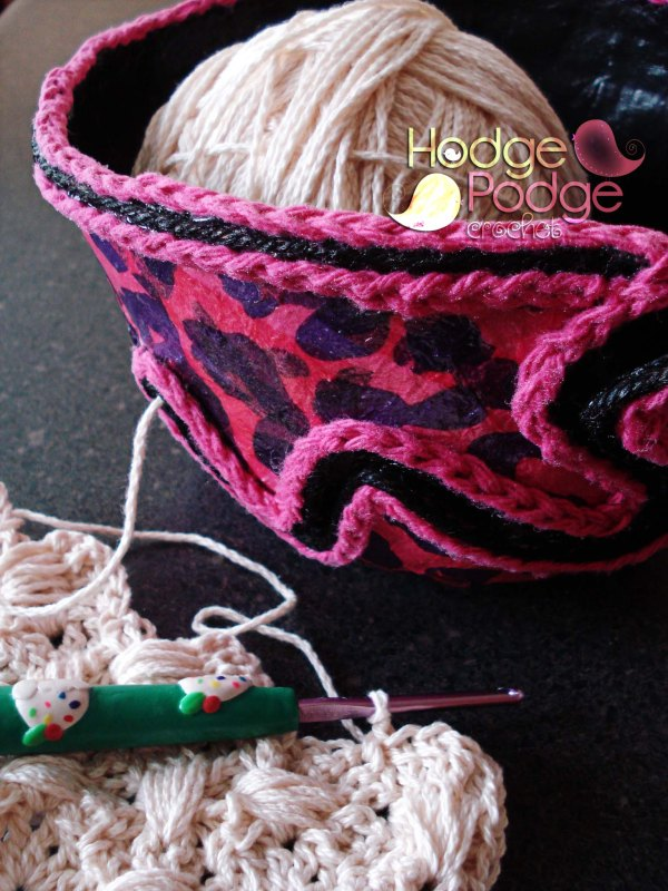 http://hodgepodgecrochet.wordpress.com/ DIY Yarn Bowl