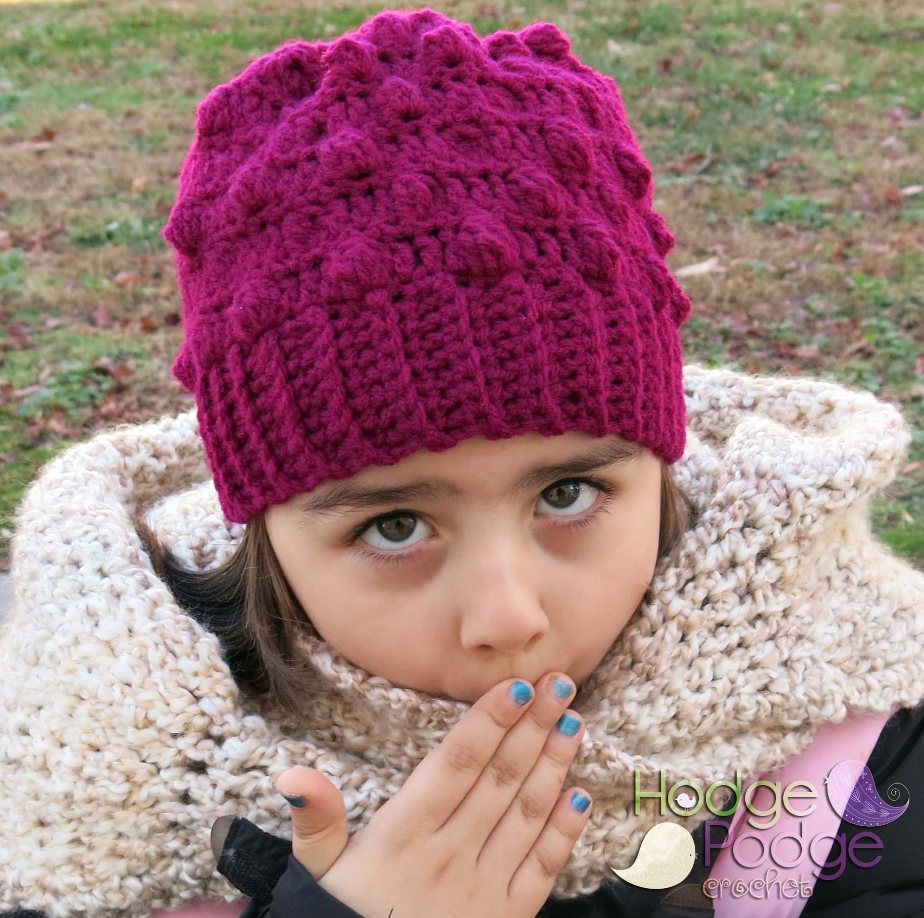 Free Crochet Pattern Bobble Hat : Bobble Beanie HodgePodge Crochet