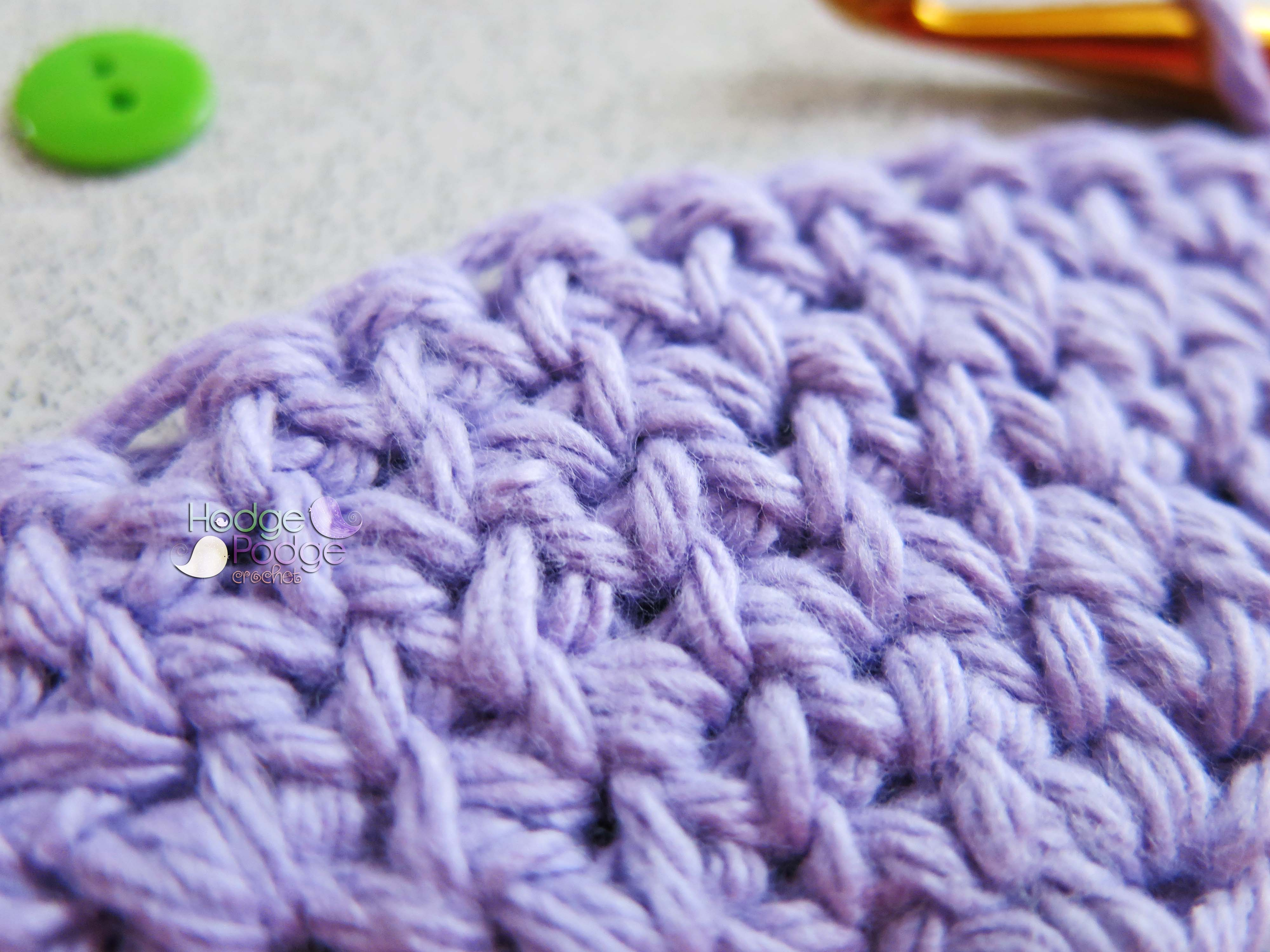 Shallow Single Crochet Stitch