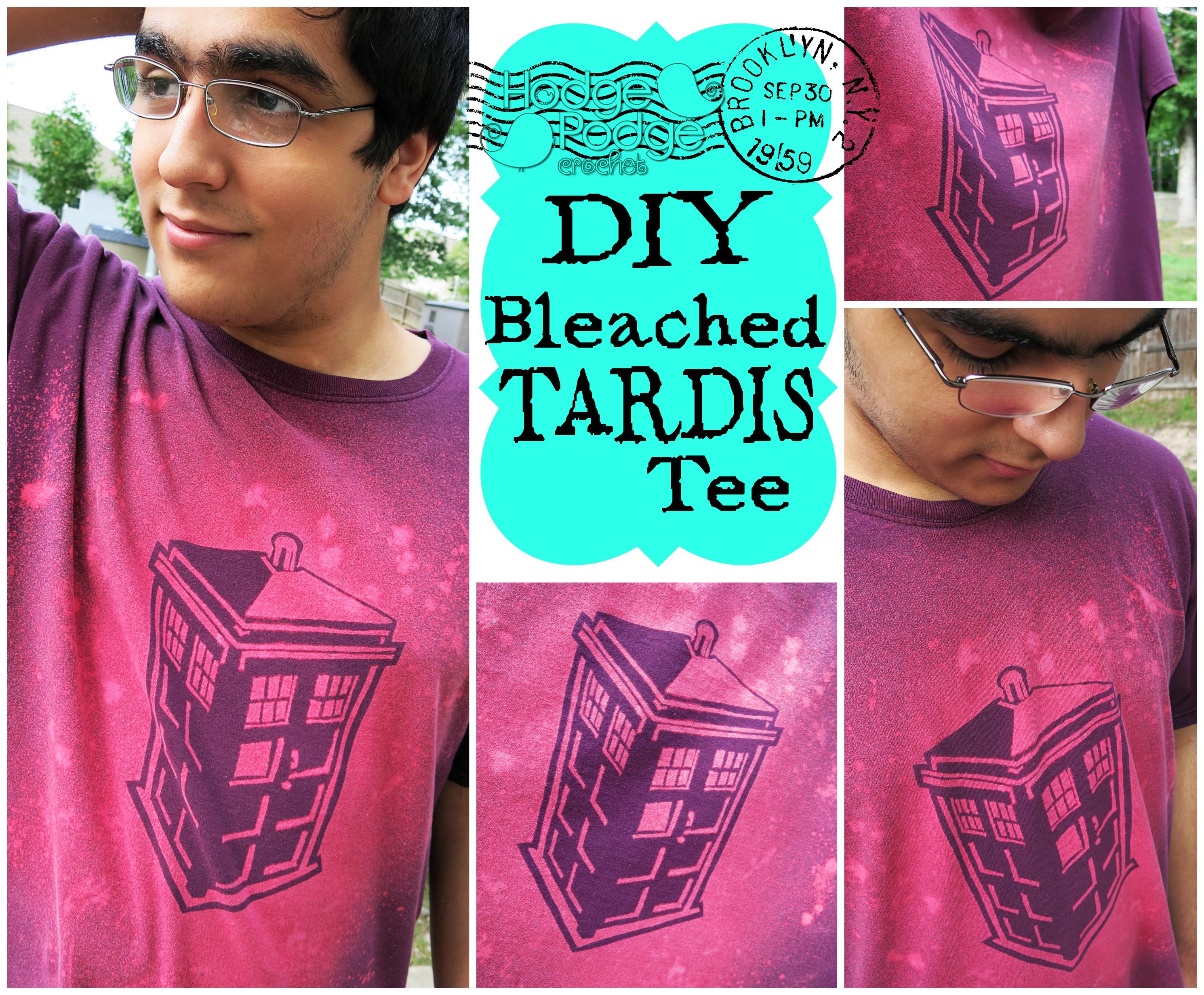 DIY Bleached TARDIS Tee