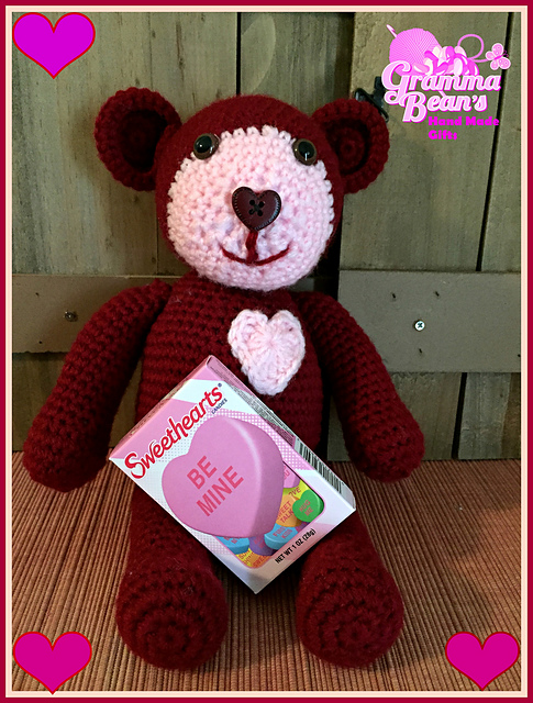 https://hodgepodgecrochet.wordpress.com :: Valentine Roundup :: Gramma Beans