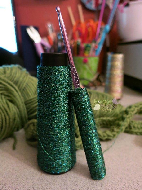 https://hodgepodgecrochet.wordpress.com :: Spotlight on Kreinik: How to Cover a Crochet Hook