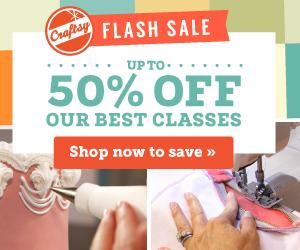 Craftsy's HUGE Weekend Flash Sale!