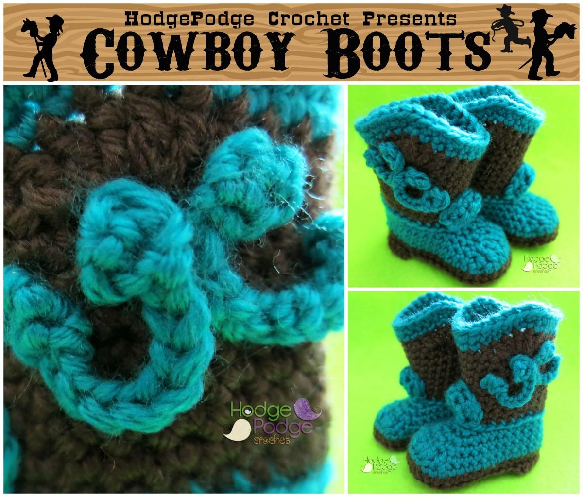 Cowboy Boots | HodgePodge Crochet