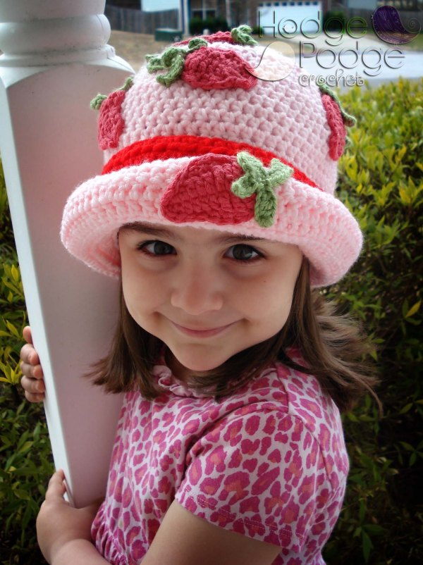 HodgePodge Crochet Strawberry Patch Hat