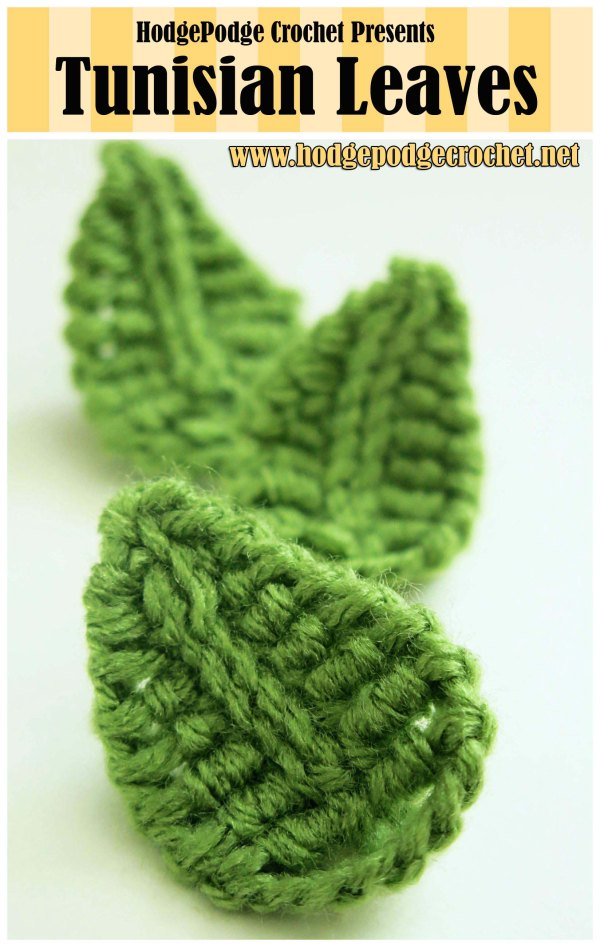 Tunisian Leaves :: www.hodgepodgecrochet.net